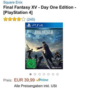 Final Fantasy XV PS4 und Xbox One (Amazon)