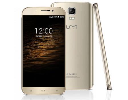 UMI ROME X, Smartphone, 3G, 16 GB, 5,5'' 1280x720 Pixel HD LTPS, 8 MPix (2 MPix Front), Android 5.1, Champagner Gold