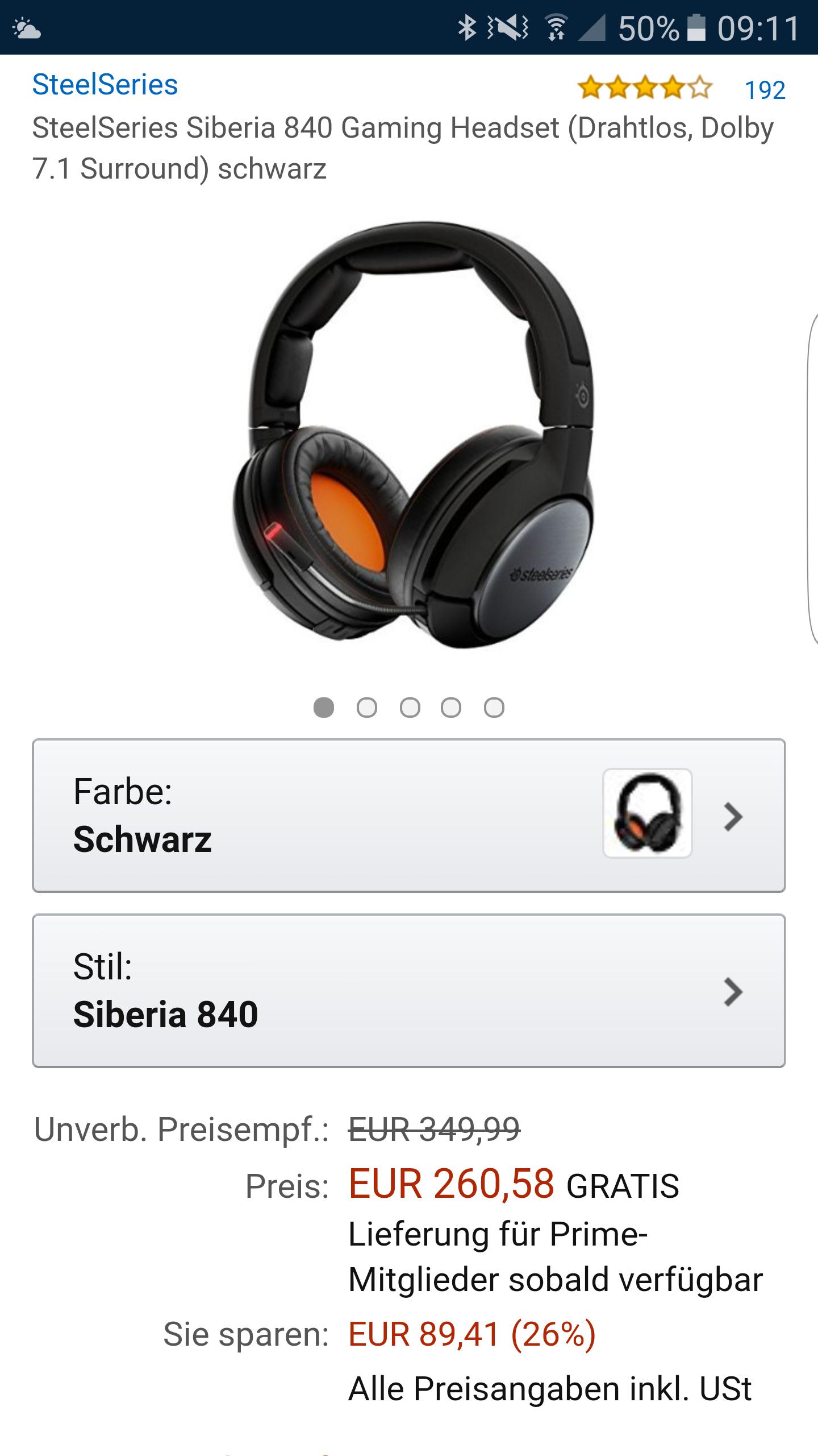 SteelSeries Siberia 840 Gaming Headset