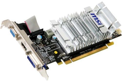 Grafikkarte MSI N520GT PCI-Express 1024 MB DDR3 Nvidia GeForce GT 520