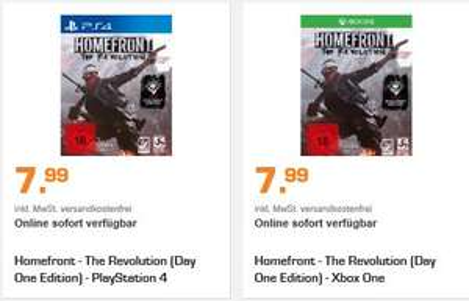 [Saturn Weekend Deals XXL] Homefront The Revolution[PS4 / XB1 und PC] für je 7,99€