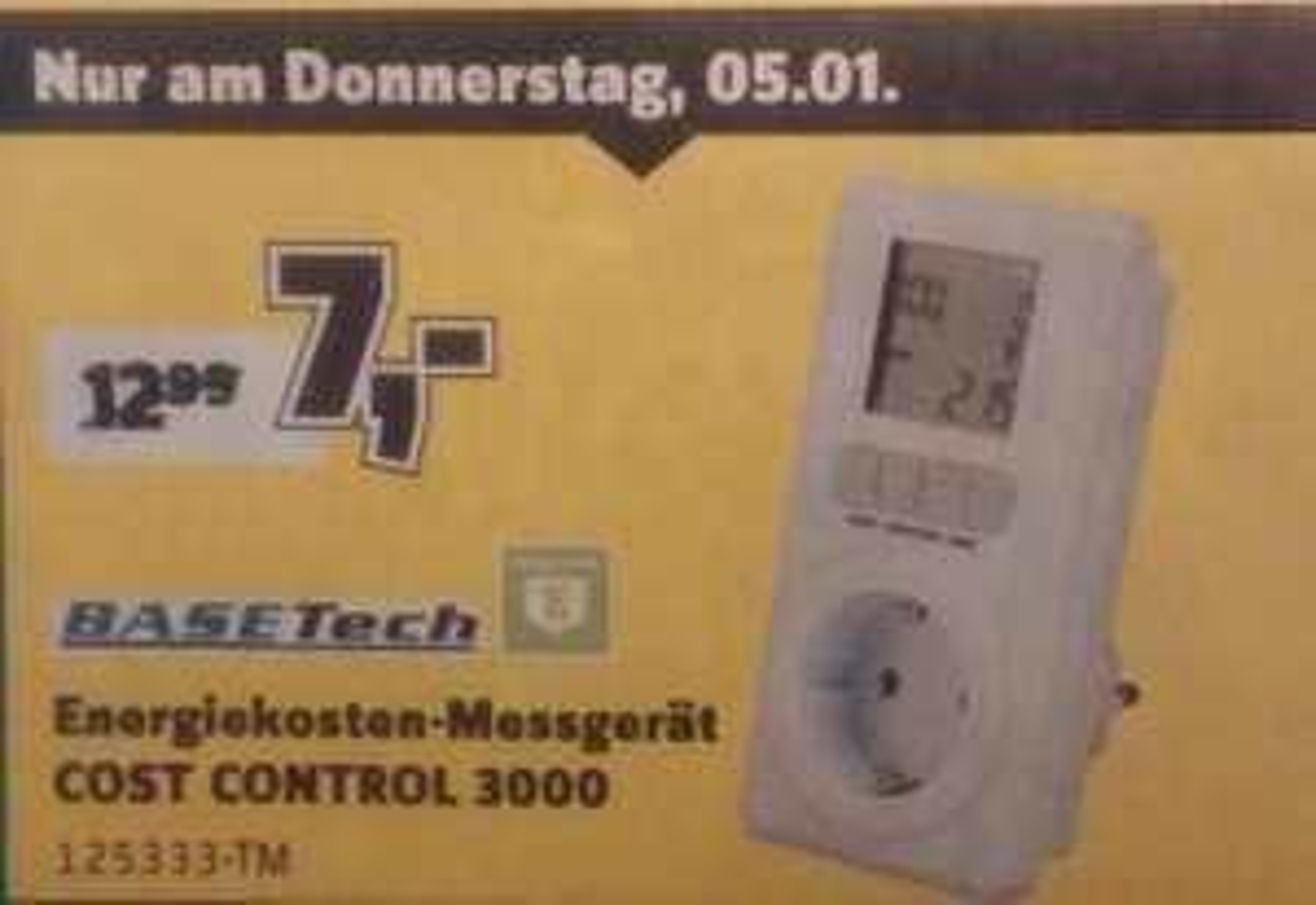 [Conrad bundesweit] Energiekosten-Messgerät Basetech Cost Control 3000 zum Bestpreis