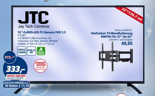JTC 55 Zoll Full HD TV  [Real Bundesweit ab 27.12.16 und jetzt schon Online]