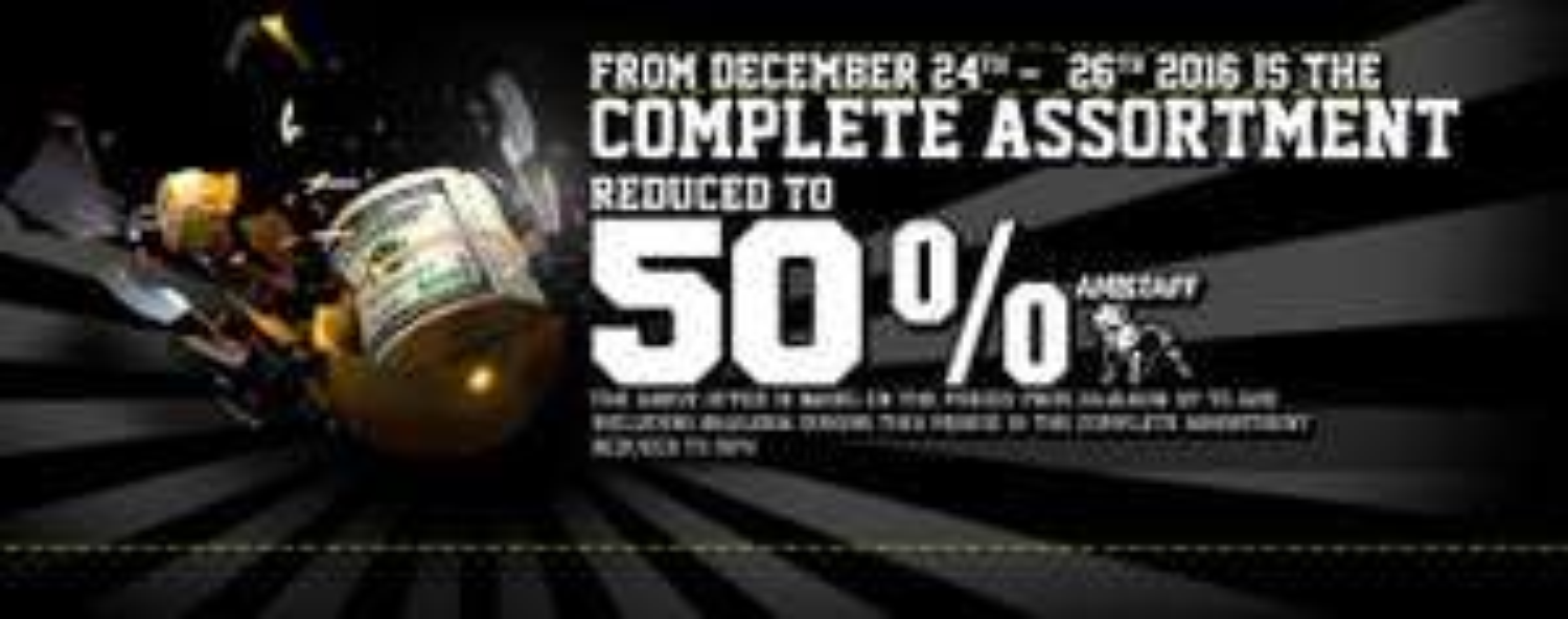 50% Rabatt auf alles im Amstaff Online Shop