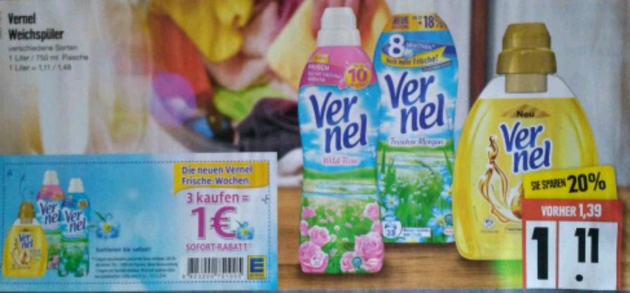[Edeka] 3xVernel für 2,33€