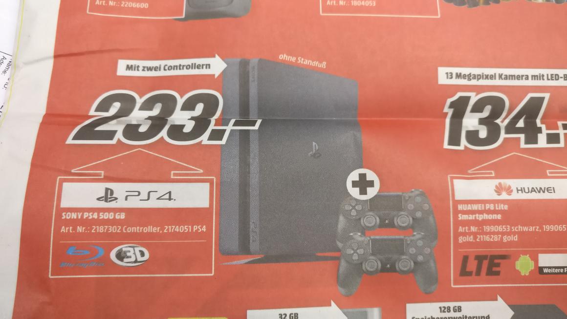 PS4 SLIM + 2. CONTROLLER [MEDIAMARKT]