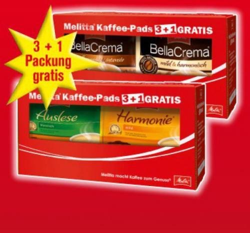 0,07€ pro Kaffee-Pad! Melitta Kaffee-Pads 3+1 @ Penny bundesweit