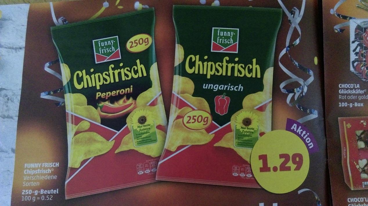 [Penny] Funny Frisch Chips - 250g Beutel versch. Sorten
