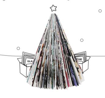 Frohe Weihnachten von Abosgratis mit dem Focus Jahresabo als ePaper und dem Harper's Bazaar Print-Abo
