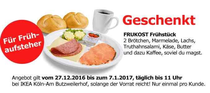 [IKEA Am Butzweilerhof] Gratis Frühstück vom  27.12.-7.1.