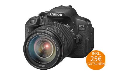 [Online] CANON EOS 700D Spiegelreflexkamera + Tamron 18-200mm Objektiv (Versandkostenfrei Saturn) + Gutscheincard 25,- Euro