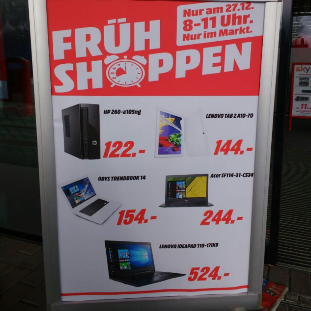 27.12 Frühshoppen Diverse Angebote @Mediamarkt Bischofsheim