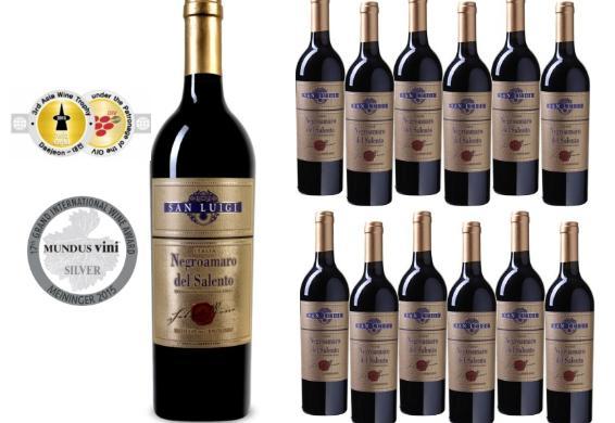 [@DC] 12 Flaschen San Luigi - 'Sigillo dell'Enologo' Negroamaro - Salento IGT ital. Rotwein (trocken)