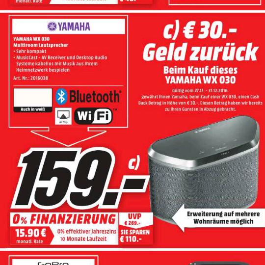 YAMAHA WX-030 Streaming-Lautsprecher (MusicCast)