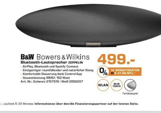 [Lokal Saturn HH] B&W Zeppelin Wireless Lautsprecher