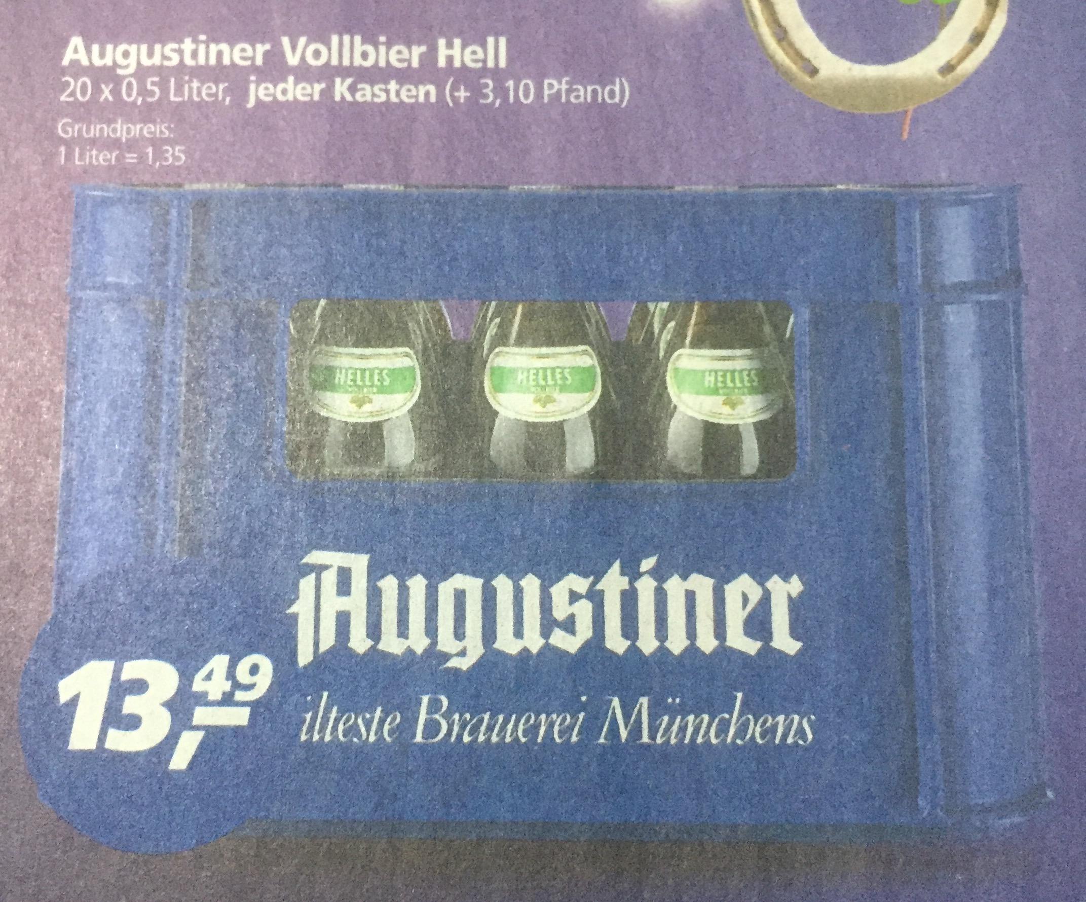 Augustiner Hell 20 x 0,5 l [real,- Landshut]