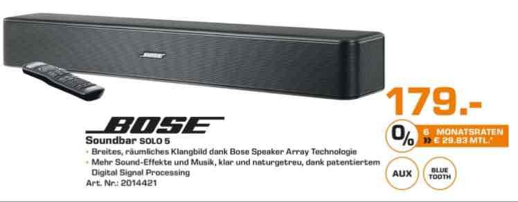 Bose Solo 5 Soundbar für 179€ | Saturn Bielefeld