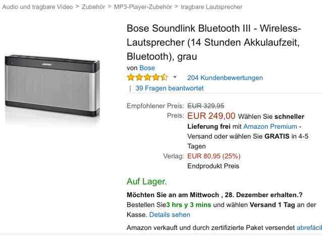 Bose Soundlink III Amazon.es
