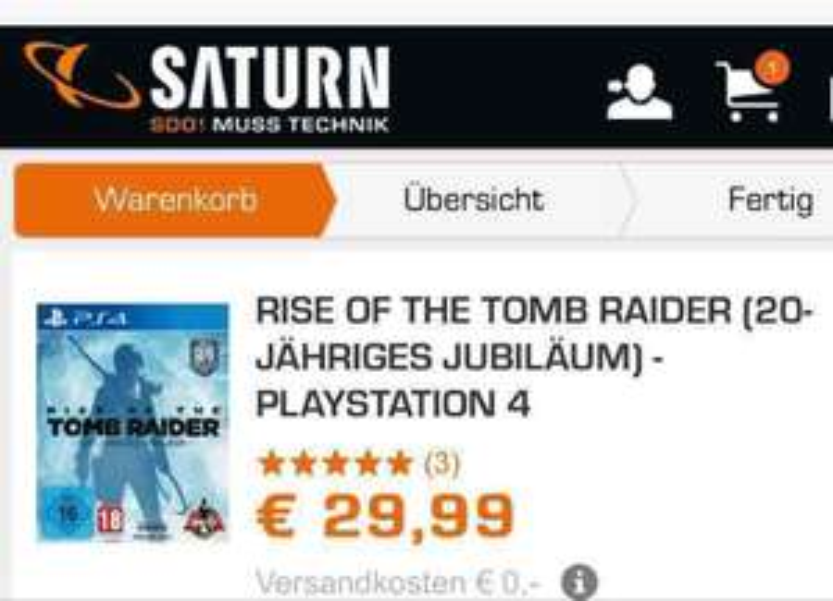 Rise of the Tomb Raider (PS4) Saturn & EBay Saturn