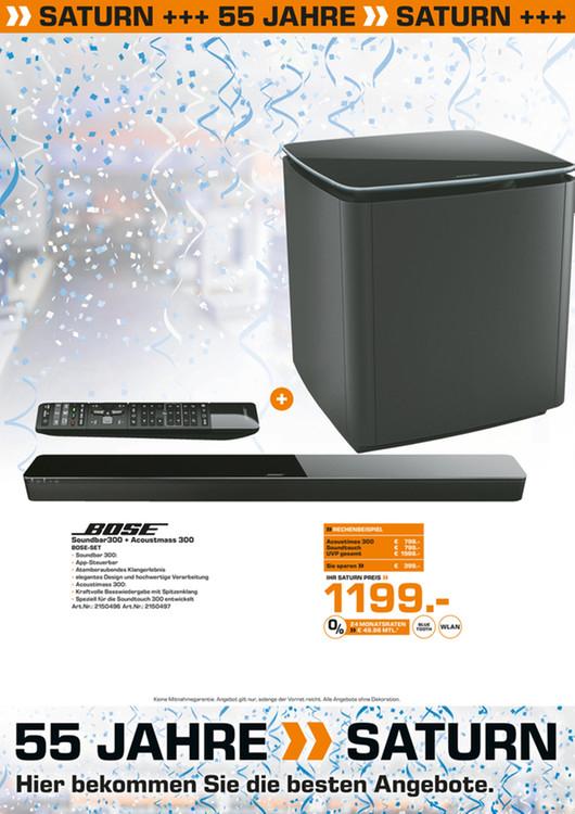 Bose Soundtouch 300 + Bose Acoustmass 300 (Saturn Düren Lokal)