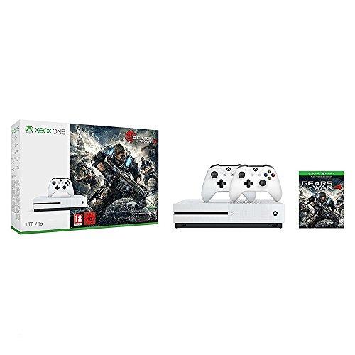 (Amazon.de) Xbox One S 1TB Konsole - Gears of War 4 Bundle + 2. Controller für 284€ Inkl. VSK