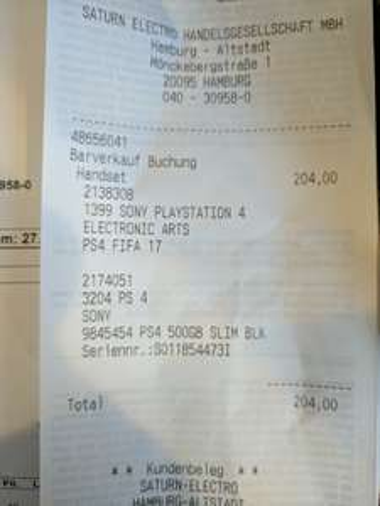 Lokal HH Saturn Altstadt PS4 Slim 500GB + FIFA 17