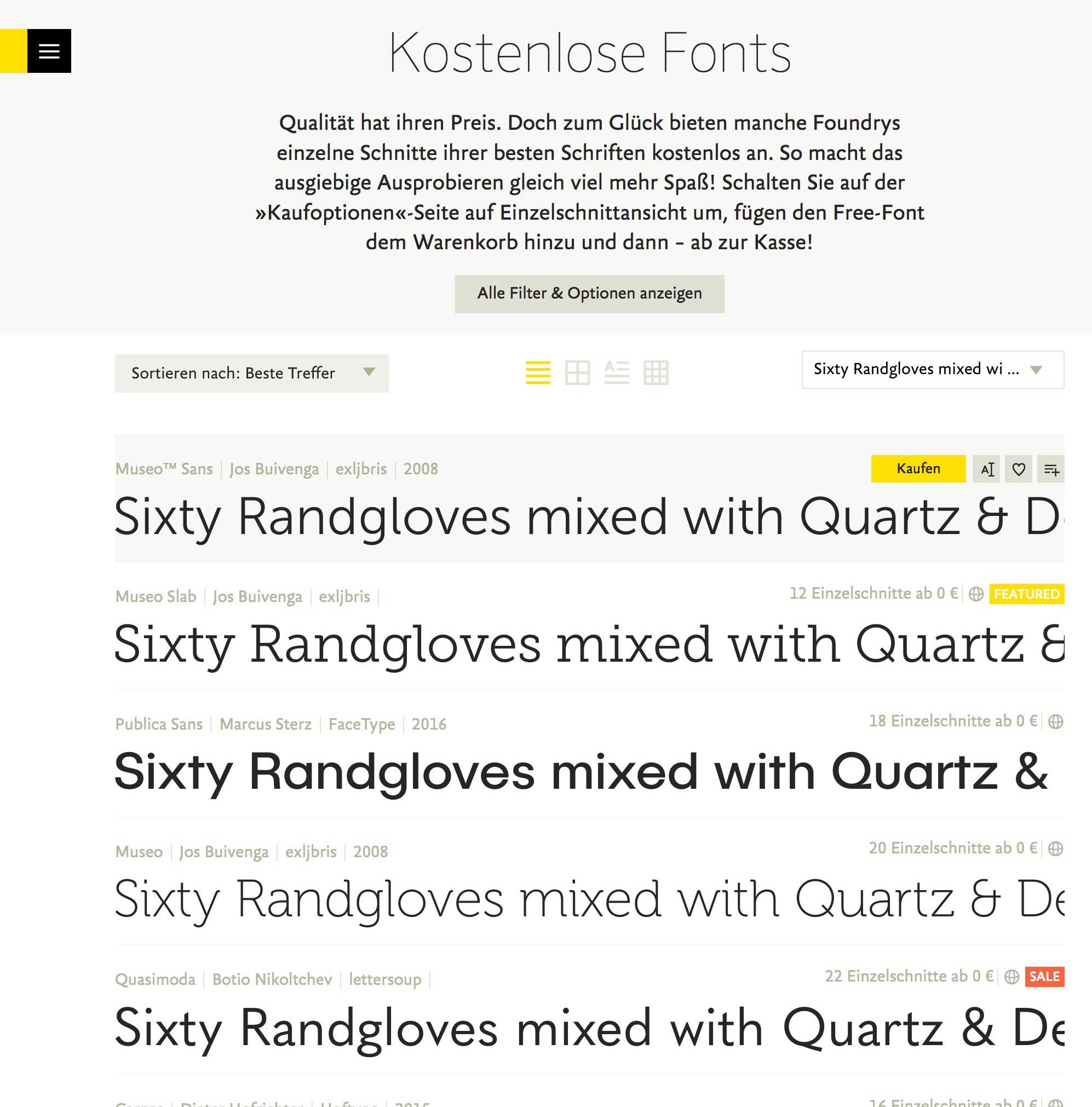 FONTSHOP.COM -> Kostenlose Free-Font-Auswahl