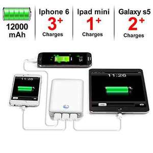 [Amazon] Powerbank 12000mAh mit 3 USB Ports