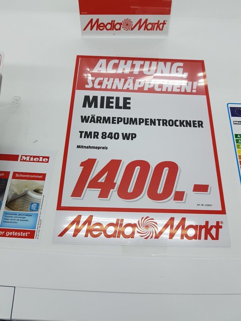 [Lokal Mediamarkt Leipzig] Miele TMR840WP D LW Steam FinishundEco XL Wärmepumpentrockner