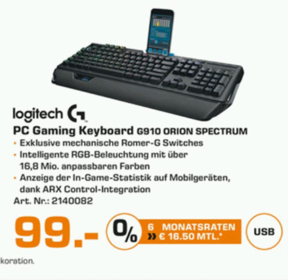 Saturn Hamburg Logitech G910 Mechanische Tastatur G502 Gaming Maus