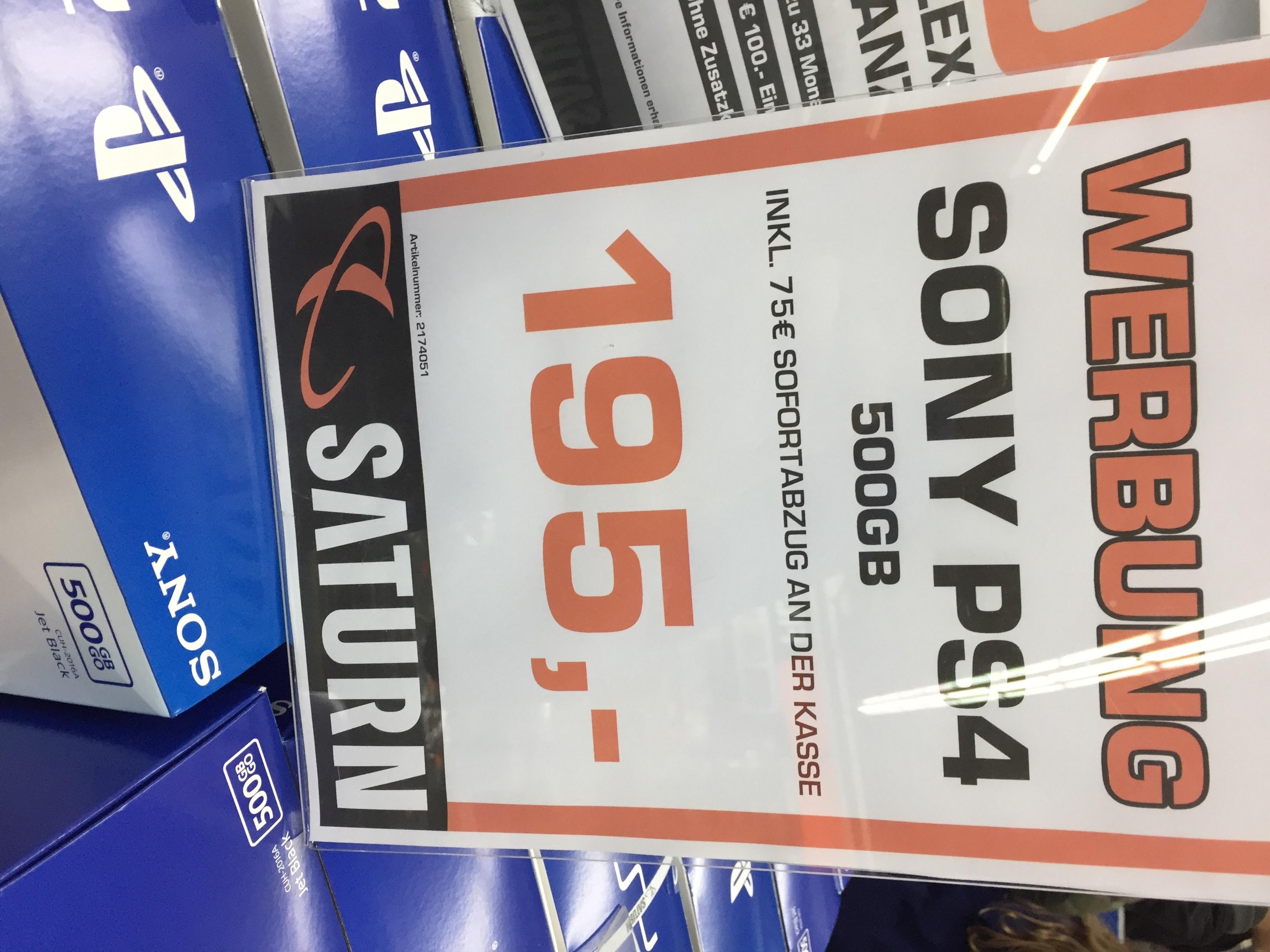 PS4 500 GB SLIM FÜR 195€ IM SATURN IN TRIER