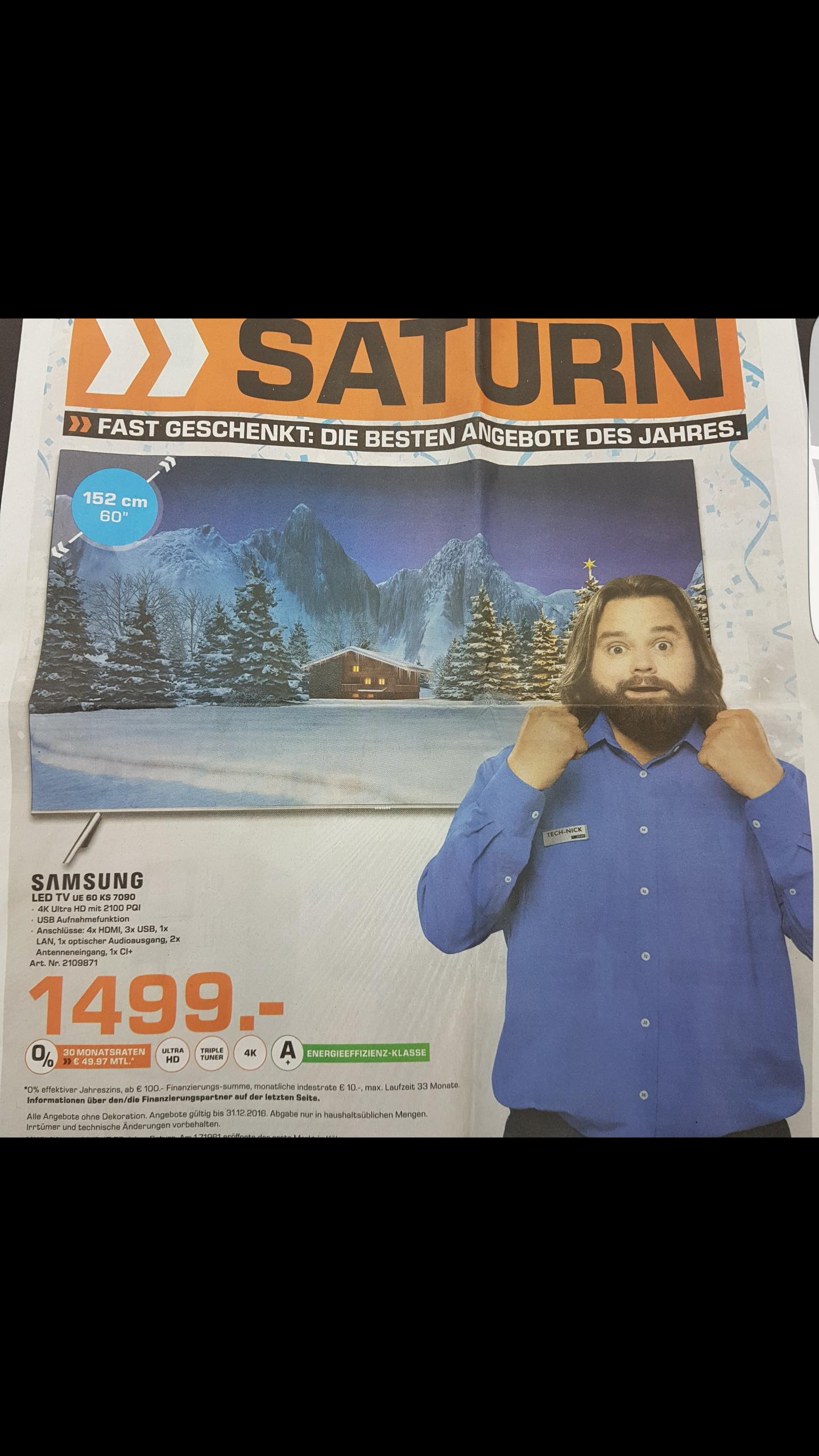 Samsung Ue60ks7090 für 1499€ im Saturn Wolfsburg!