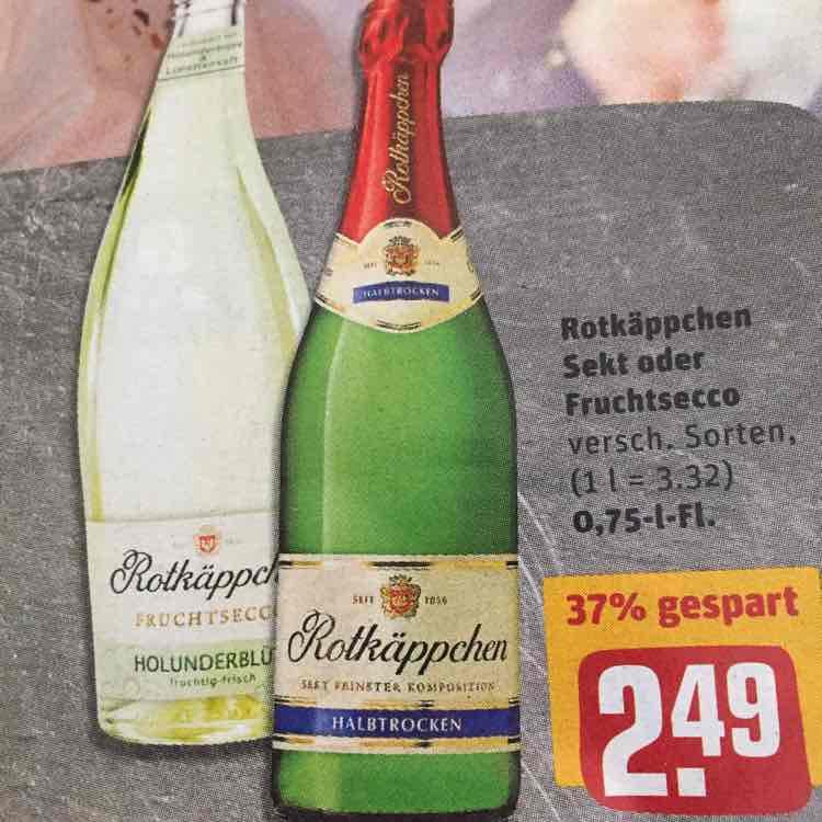 [LIDL und REWE] Rotkäppchen Sekt - für eine Flasche weitere 0,50€ scondoo drin