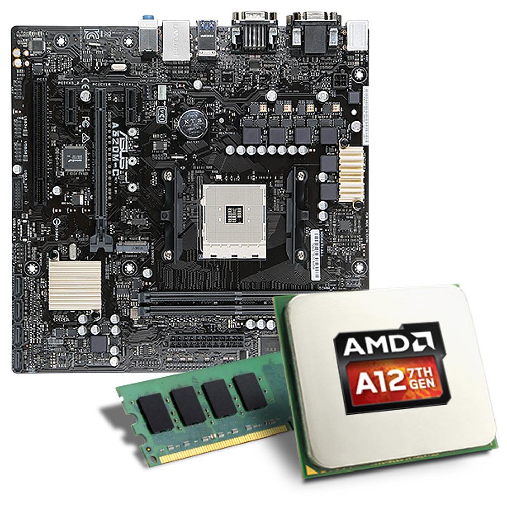 AMD AM4 Mainboard-Bundle mit A12-9800 APU (Wert zZ 190€), Crucial 8GB DDR4 RAM (ab 50€) und Asus AM4 Mainboard (€?), zzgl. Versandkosten
