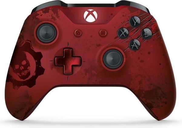 """Xbox One S Wireless Controller: Gears of War 4 """"Crimson Omen Limited Edition"""" für 49,99€ [Amazon + Gamestop]"""