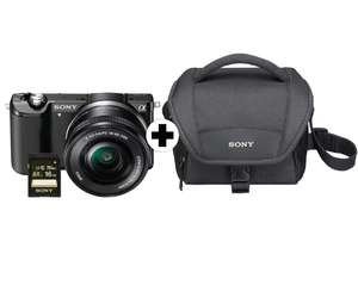 [LOKAL-MM Mainz/Alzey/Bischofsheim] Sony Alpha 5000 Kamera 16-50mm Kit mit Tasche und SD-Karte (schwarz oder silber)