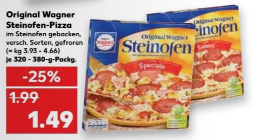 [Kaufland] Wagner Steinofen Pizza versch. Sorten 1,49€