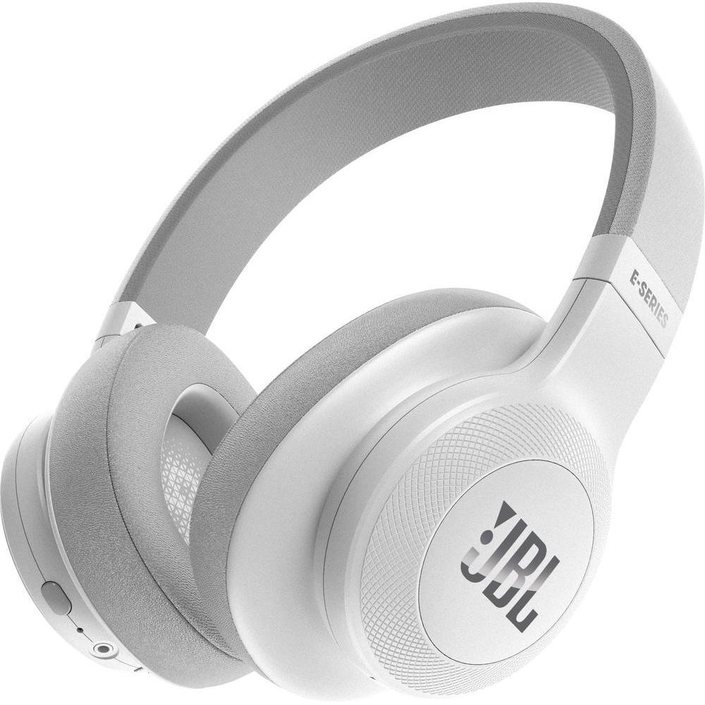 [Conrad] JBL E55BT Over-Ear Surround Bluetooth Kopfhörer Faltbar Inkl. Abnehmbares Verwicklungsfreies Textilkabel mit Universeller 1-Tasten-Fernbedienung mit Integriertem Mikrofon - Weiß