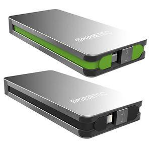 NINETEC NT609 Powerbank mit eingebautem USB & Micro-USB oder Lightning Ladekabel