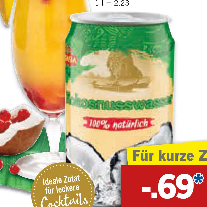 Kokosnusswasser 310 ml für nur 0,69 € bei [Lidl]