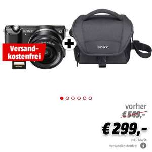mediamarkt online sony alpha 5000 kit inklusive objektiv. Black Bedroom Furniture Sets. Home Design Ideas