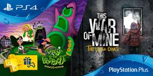 PS+ im Januar [PSN]: u.a. Day of the Tentacle: Remastered & This War of Mine: The Little Ones (PS4)