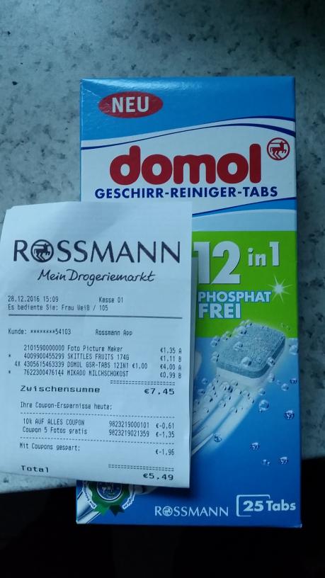domol Geschirr-Reiniger-Tabs Rossmann