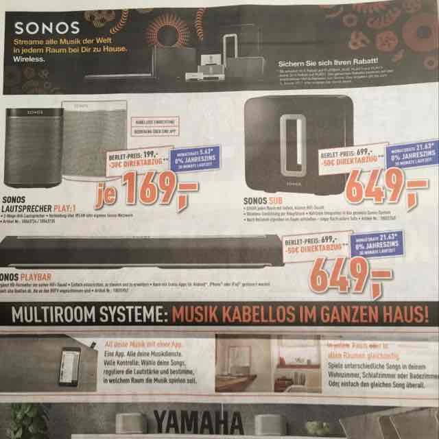 Sonos Play 1 für 169€ bei Berlet
