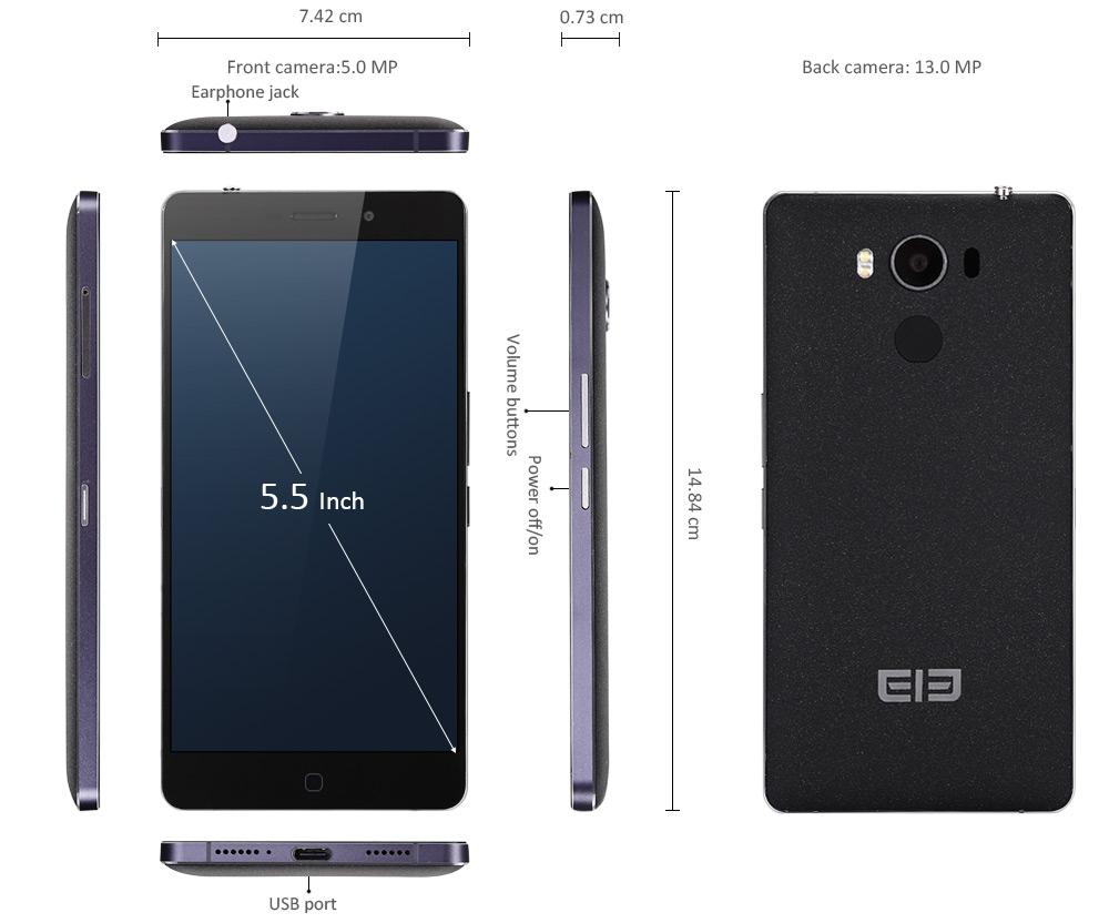 "[HK-2 Gearbest] Elephone P9000 5,5"" 4GB/32GB LTE USB-C FHD Helio P10"