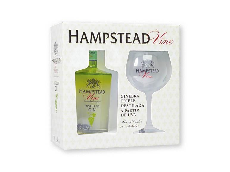Trauben-Gin von allseits beliebtem Hampstead mit matching Fuselschwenker NUR  in Spanien
