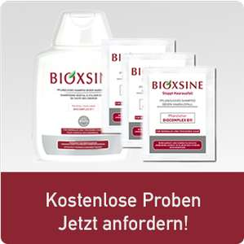 Bioxsine pflanzliche Mittel gegen Haarausfall gratis testen