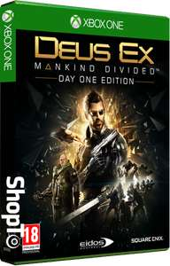 (Shopto) Deus Ex: Mankind Divided Day 1 Edition + Cloth Poster (Xbox One & PS4) für 20,96€ inkl. VSK