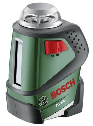 Bosch DIY 360° Linienlaser PLL 360, 4x Batterien AA, Universalhalterung, Tasche (Arbeitsbereich 20 m, +/-0,4 mm/m Messgenauigkeit) für 102,99 € @Amazon