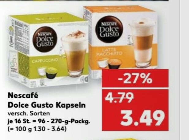 Kaufland (bundesweit)... Dolce Gusto Kapseln zu 3,49€